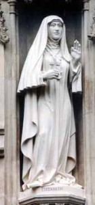 Statue of Elizabeth of Russia, one of the 20th century martyrs a