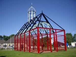 Menno Simons monument contourenkerkje witmarsum
